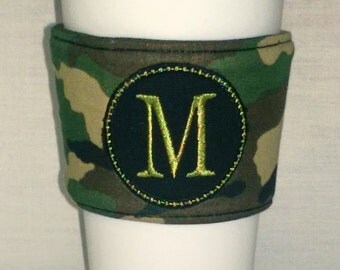 Monogrammed Camo Coffee Sleeve & Tumbler Set