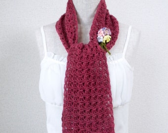 Cute Stole - Mohair Wine Red