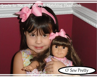 Doll headbands, Me and My Dolly Matching Headbands,