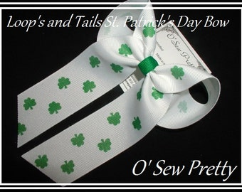 GREEN HAIR BOWS, St. Patrick's Day Hair Bows,Irish Hair Bows, Shamrock Hair Bows,Irish holiday hair bows, irish parade hair bows