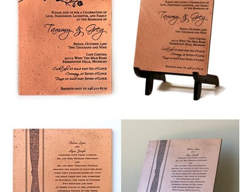 Etched Copper Wedding Invitation