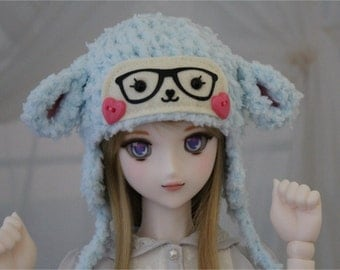 Mint Lamb Hat for SD BJD, 1/3 Doll, Size 8-9 Sheep Hat