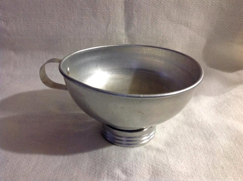 Vintage Aluminum Metal Canning FUNNEL Jar Filler Wide Mouth