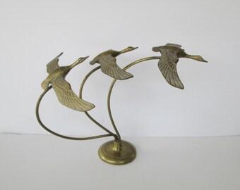 Geese in Flight Sculpture