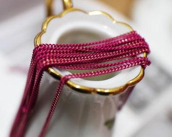 shiny magenta chain