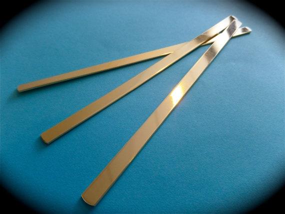 30 Cuffs 3/8 x 6 Inch Polished or RAW Jeweler's Brass or Copper Bracelet Blank 18 Gauge - FLAT - Qty 30