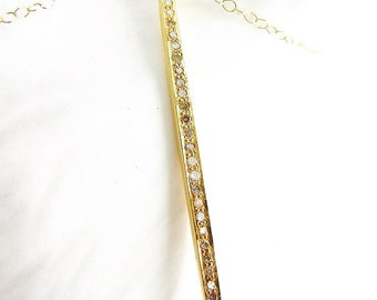 Gold Diamond Spike Necklace