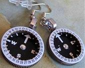 Vintage Watch parts earrings - Finding time - Steampunk Earrings - Repurposed art