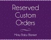 CUSTOM Order RESERVED for - Amber Mendez