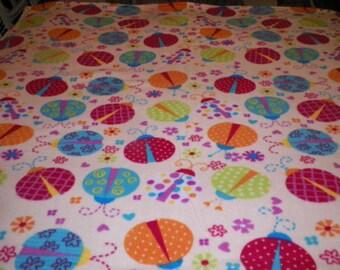 Ladybug Fleece Throw Blanket