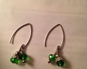 Emerald dangle earrings