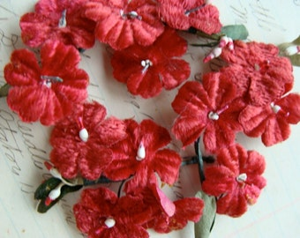 Antique Millinery Velvet  Millinery Flowers
