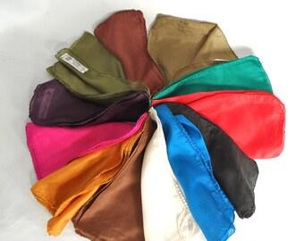 12 vintage silk scarves