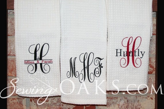 one monogrammed kitchen towel 3 embroidery designs by cozy and chic kitchen towel embroidery designs kitchen