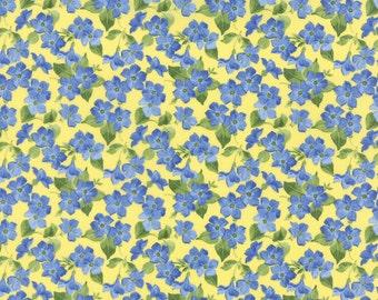 Yellow Packed Flowers Summer Breeze III Fabric - Moda - 32945 13