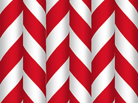 Red White Stripe Fabric - Elf on the Shelf - Quilting Treasures - 22768