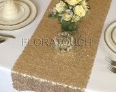 Gold Tiny Round Sequin Table Runner Wedding Table Runner
