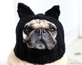 Dog Hat - Black Cat Hat - Pug Hat - Dog Hats - Pet Clothing - Dog Clothing - Pug Clothing - Dog Costume