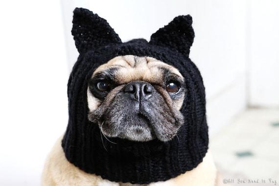 Dog Hat - Black Cat Hat - Pug Hat - Dog Hats - Pet Clothing - Dog Clothing - Pug Clothing - Dog Costume