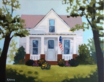 Custom Home Painting on canvas