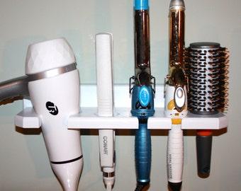 Hair Blow Dryer Curling Flat Iron Brush Shelf Holder Bath