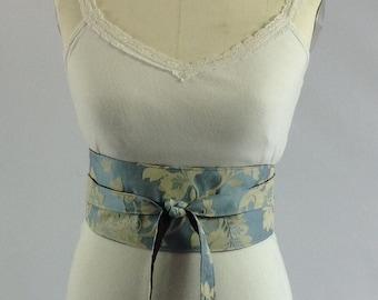 Belt, light blue and brown reversible belt