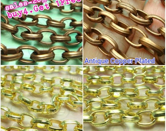 buy 4 Get 1FREE / T230RH / 4+1meter / 9x6.5mm - Chunky Opened Oval-Link Chain Findings