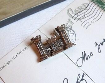 Marcel Boucher Brooch Castle Pin Vintage 1940s Phrygian Cap Signed
