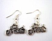 Motorbike Earrings - Motorcycle Earrings - Biker Earrings