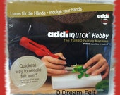 addi Quick addiQuick Needle Felting Tool now allows you Faster Needle Felting +FREE Gift bag of  Wool from Dream Felt