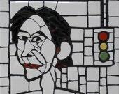 RESERVED for Suz ~ Original Mosaic Portrait (Balance)