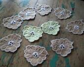 Vintage Flower Appliques
