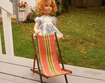 Vintage Doll Furniture - Collapsible Lawn Chairs for Large Dolls or Display