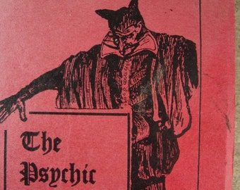 1914 The PSYCHIC in a NUTSHELL Book Paranormal ESP Phenomena 1st edition devil red cover Exposure of fakery antique seance mind reading