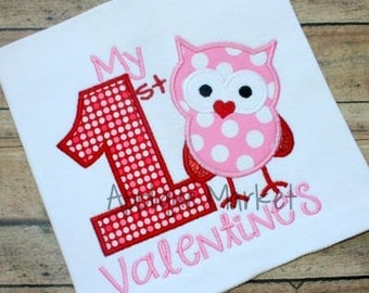Machine Embroidery Design Applique My First Valentine Number One INSTANT DOWNLOAD
