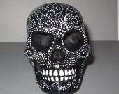 Painted Plaster Skull / Calavera #11