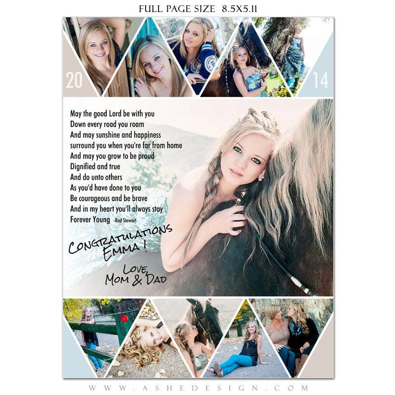 Senior yearbook ads photoshop templates pennant high for Free senior templates for photoshop
