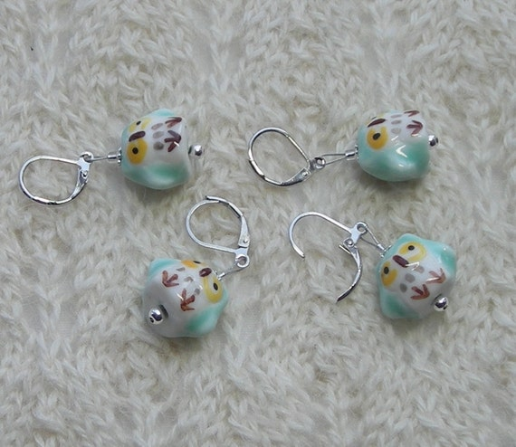 Using Stitch Markers In Lace Knitting : owl crochet stitch markers knitting stitch by lavenderhillknits