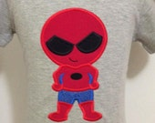 Boys Embroidered SpiderMan  Tee T Shirt