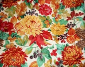 1 yard Fall Quilting Cotton fabric Thanksgiving home decor apron fabric by the yard table runner