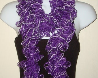 Fashion Infinity Ruffle Scarf Purple/Women's Sashay Scarf/Women's Accessories/Ruffle Cowl/Ruffle Neck warmer/Fashion Accessory/Neckwrap