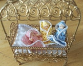 Miniature DOLLHOUSE THREAD crochet layette and doll Grannie's Baby Your choice