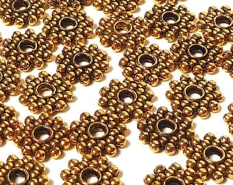 Gold Tone Pewter Spacer Beads for Jewelry Supply 100 per pack, 8mm #20003