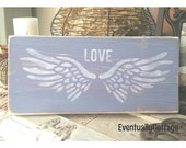 Angel Wings, Lavender Decor, Angel Wings Wall Decor, Angel Wings Art, Love Sign, Memorial Gift, Angel Sign, In Memory Of, Sympathy Gift