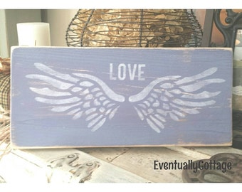Handpainted Angel's Wings sign