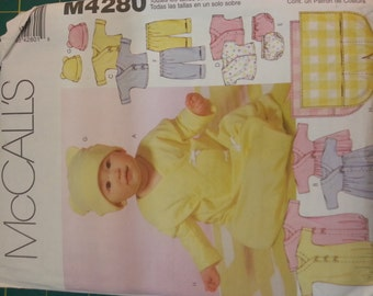 Baby wardrobe Layette Multi Size McCalls 4280