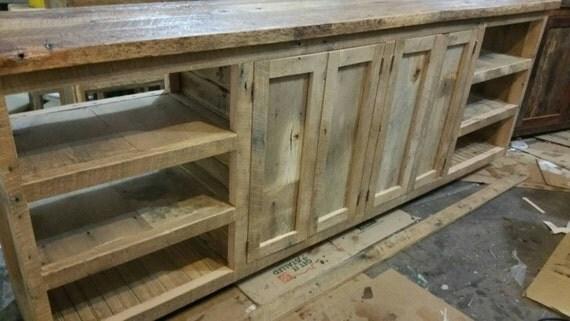 Frais de port de votre fait sur mesure grange rustique bois for Meuble avec bois de grange