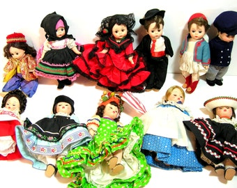 """Madame Alexander 8"""" Doll Collection - Eleven Dolls - 1960s"""