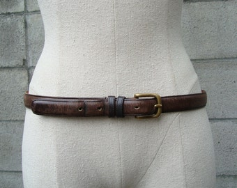 Coach Belt Leather Brown Vintage 1980s New York City size 34
