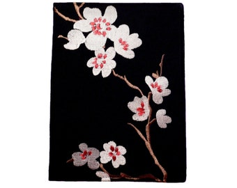 Kindle Cover Hardcover, Kindle Case, eReader, Kobo, Nook, Nexus 7, Kindle Fire HDX, Kindle Paperwhite,  Embroidered Asian Cherry Blossoms